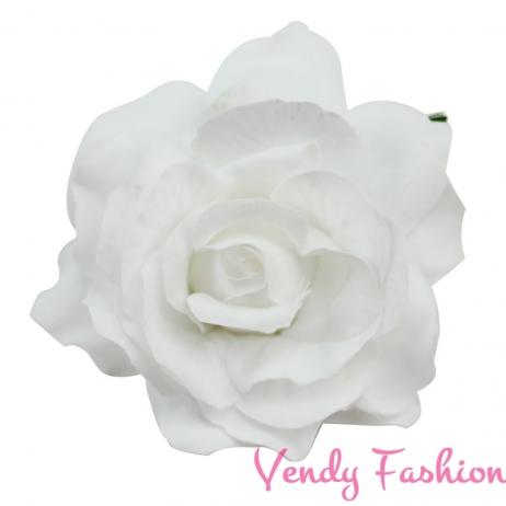 Růže do vlasů bílá