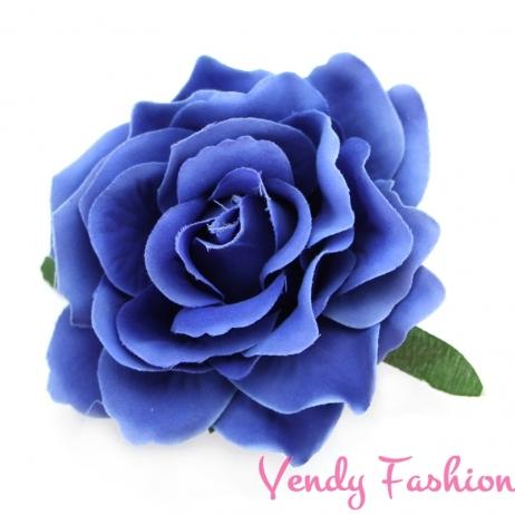 Růže do vlasů modrá