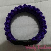 Paracord náramek tmavě fialový