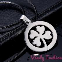 Ocelový náhrdelník čtyřlístek pro štěstí