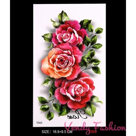 Dočasné tetování tři růže