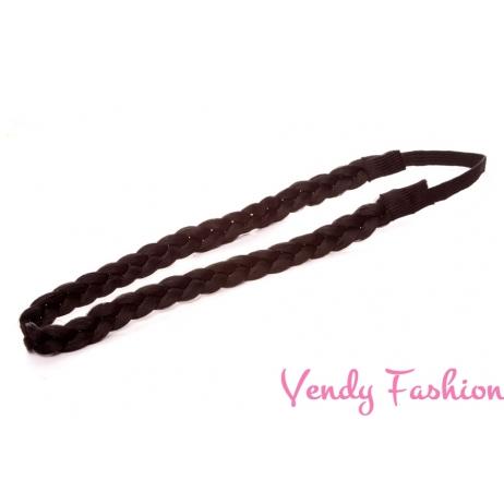 Pletená čelenka do vlasů černá