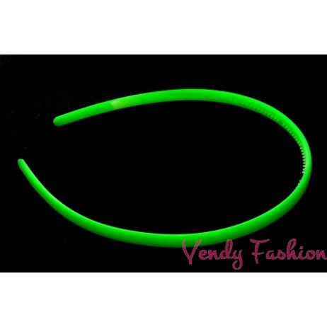 Čelenka neonově zelená plastová