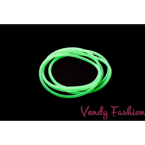 Svítící gumička do vlasů zelená