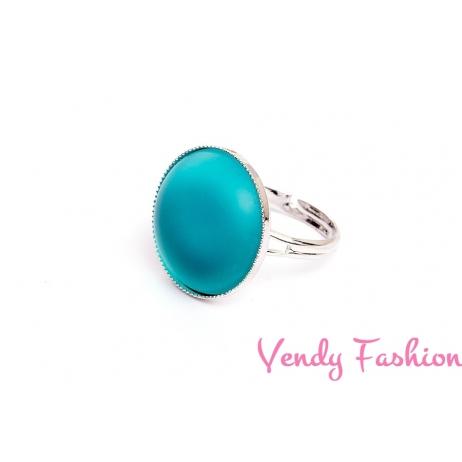 Prsten Velvet Blue Zircon 18mm rhodiovaný