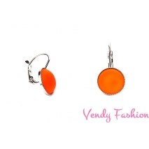 Náušnice Velvet UV Orange 12mm KL rhodiované