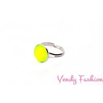 Prsten Velvet UV Citrine 12mm rhodiovaný