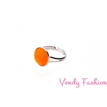 Prsten Velvet UV Orange 12mm rhodiovaný