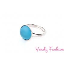 Prsten Velvet UV Aquamarine 12mm rhodiovaný