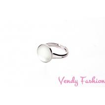 Prsten Velvet Crystal 12mm rhodiovaný