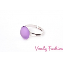 Prsten Velvet Light Amethyst 12mm rhodiovaný