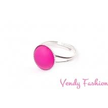 Prsten Velvet Fuchsia 12mm rhodiovaný