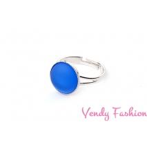 Prsten Velvet Sapphire 12mm rhodiovaný