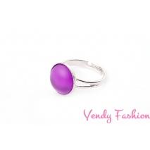 Prsten Velvet Amethyst 12mm rhodiovaný