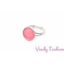 Prsten Velvet Padparapscha 12mm rhodiovaný