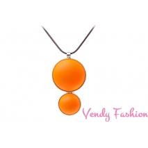 Náhrdelník Velvet UV Orange rhodiovaný