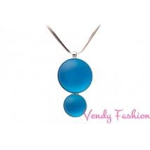 Náhrdelník Velvet UV Aquamarine rhodiovaný