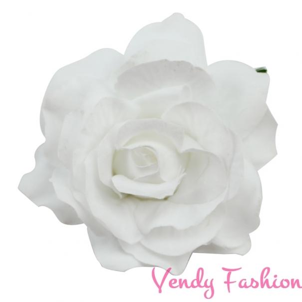 f4c5ae0331b Růže do vlasů bílá - Vendy-Fashion.cz