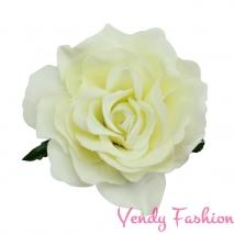 Ruže do vlasov mliečne biela