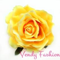 Růže do vlasů žlutá