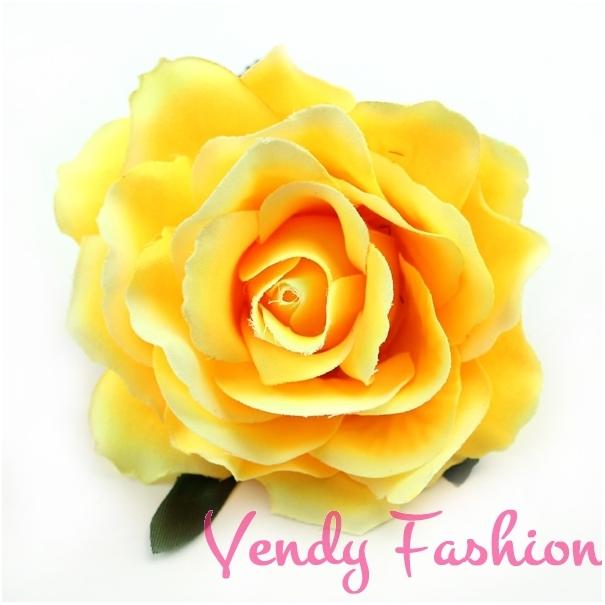 a98fd9df41b Růže do vlasů žlutá - Vendy-Fashion.cz