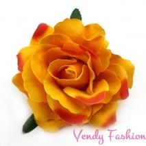 Růže do vlasů oranžová