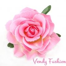 Růže do vlasů světle růžová