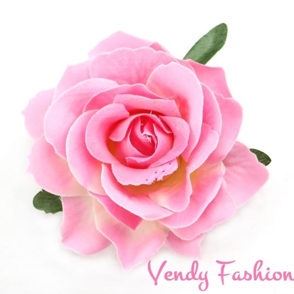 d716ef9117c Růže do vlasů světle růžová - Vendy-Fashion.cz
