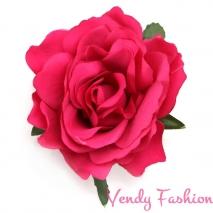 Růže do vlasů tmavě růžová