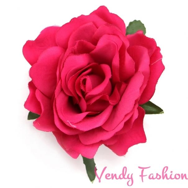 194ae97521a Růže do vlasů tmavě růžová - Vendy-Fashion.cz