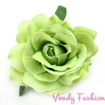 Růže do vlasů světle zelená