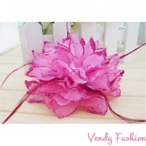 Květ do vlasů růžový