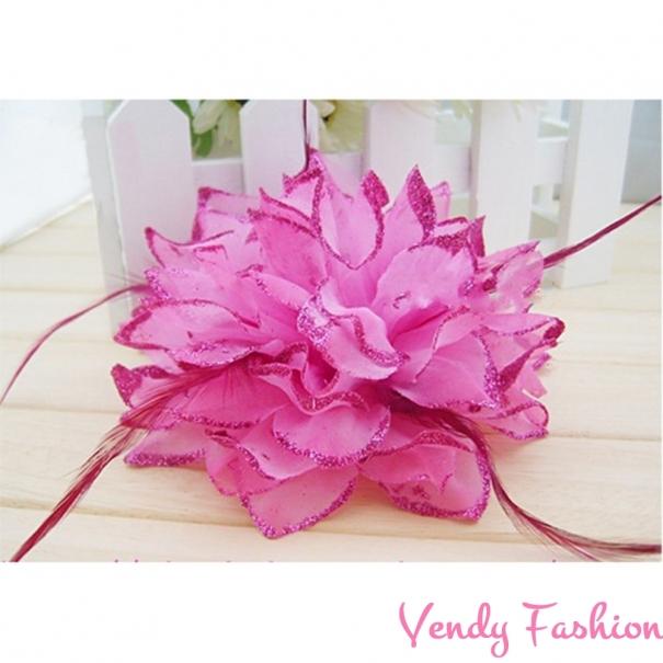 5ab19d23911 Květ do vlasů růžový - Vendy-Fashion.cz
