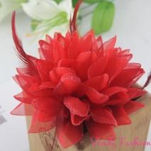 Květ do vlasů červený