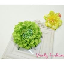 Zelený květ do vlasů