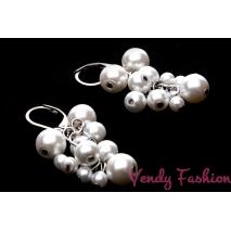 Ocelové náušnice s naketlovanými perličkami
