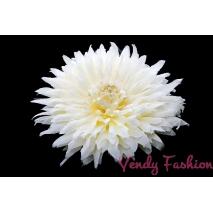 Květina do vlasů bílá s gumičkou