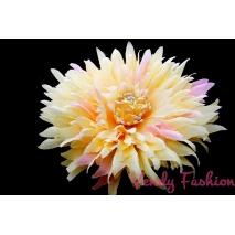 Květina do vlasů žlutá s gumičkou