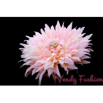 Květina do vlasů světle růžová s gumičkou
