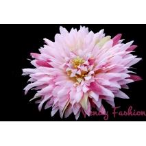 Květina do vlasů růžová s fuchsiovými prvky s gumičkou