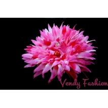 Květina do vlasů tmavě růžová s gumičkou