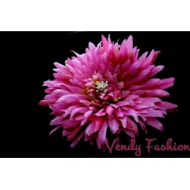 Květina do vlasů světle fialová s gumičkou