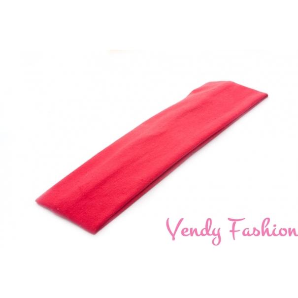Látková čelenka do vlasů tmavě červená - Vendy-Fashion.cz 48754402e8