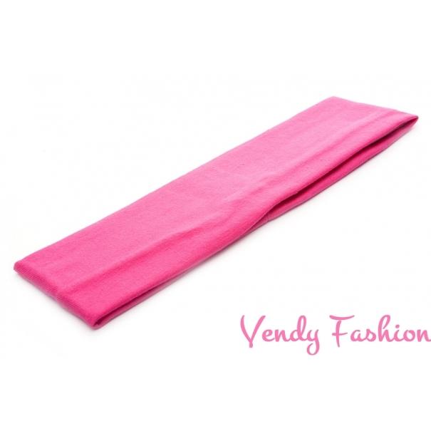 Látková čelenka do vlasů tmavě růžová - Vendy-Fashion.cz c460bace99