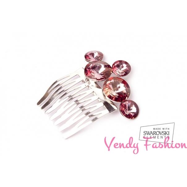 Hřeben do vlasů Swarovski Rivoli Crystal Antique Pink F. Loading zoom b3ccafe601