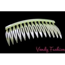 Hřeben do vlasů světle zelený