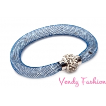 Modrý náramek textilní dutinka