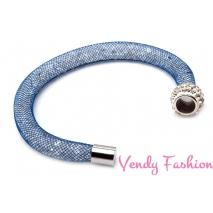 Modrý náramok textilné dutinka