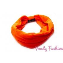 Oranžová látková čelenka široká