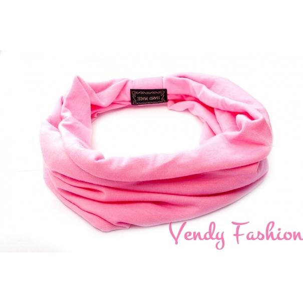 Světle růžová látková čelenka široká - Vendy-Fashion.cz 969c3279ce
